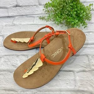 Vionic Miami leather t-strap arch support sandal